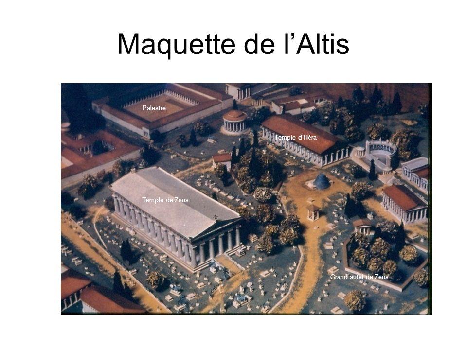 Maquette de lAltis Palestre Temple de Zeus Temple dHéra Grand autel de Zeus