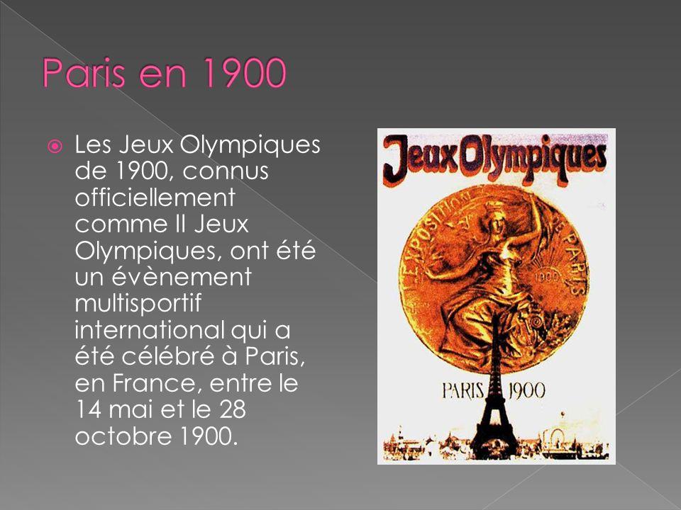 Les Jeux Olympiques de 1900, connus officiellement comme II Jeux Olympiques, ont été un évènement multisportif international qui a été célébré à Paris