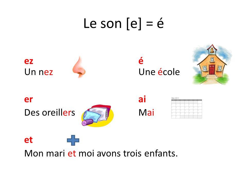 Le son [ǝ] = e eeu Une grenouilleDes immeubles œu Un cœur