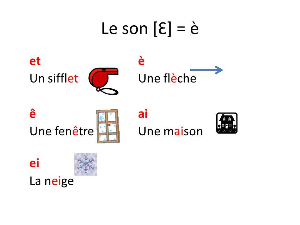 Le son [Ɛ] : e + consonne(s) = è etteerre Une étiquetteLa Terre erenne Un fer à repasserUne antenne esesse Un escalierDes fesses