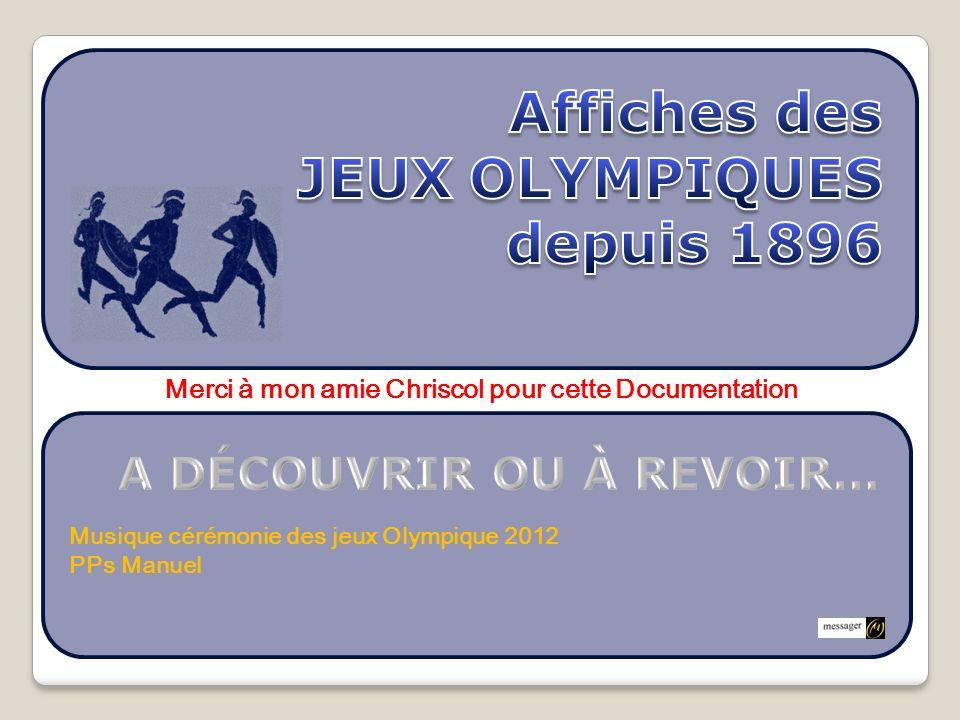 Musique cérémonie des jeux Olympique 2012 PPs Manuel Merci à mon amie Chriscol pour cette Documentation