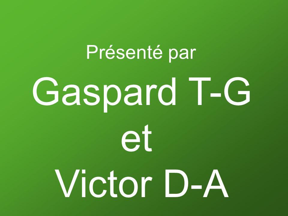 Présenté par Gaspard T-G et Victor D-A
