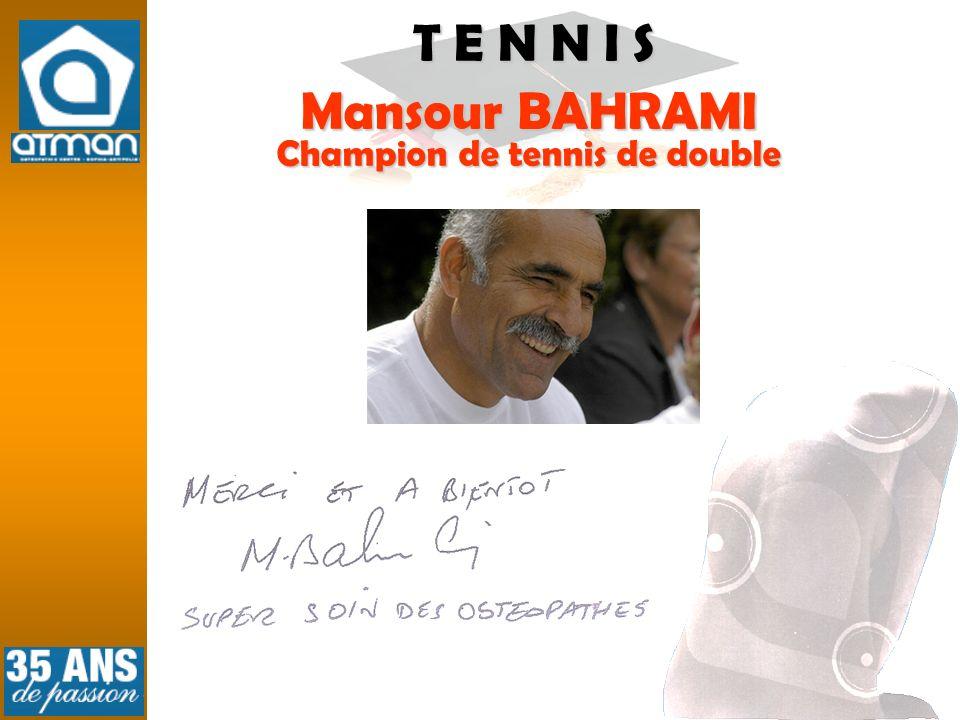 Mansour BAHRAMI Champion de tennis de double