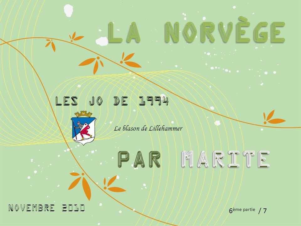 NOVEMBRE 2010 6 ème partie / 7 Les Jo de 1994 Le blason de Lillehammer