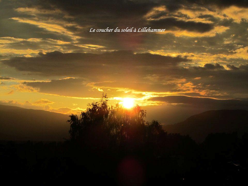Le coucher du soleil à Lillehammer