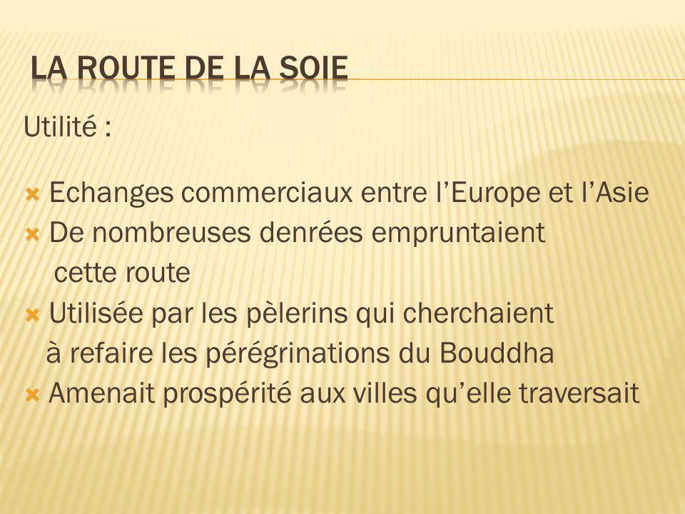 Les raisons de sa chute : Longueur Dangers Peuples belliqueux Brigands Rigueur du climat Développement de la fabrication de la soie en Europe