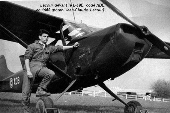Lacour devant le L-19E, codé ADB, en 1965 (photo Jean-Claude Lacour).
