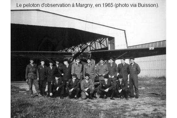 Le peloton d'observation à Margny, en 1965 (photo via Buisson).