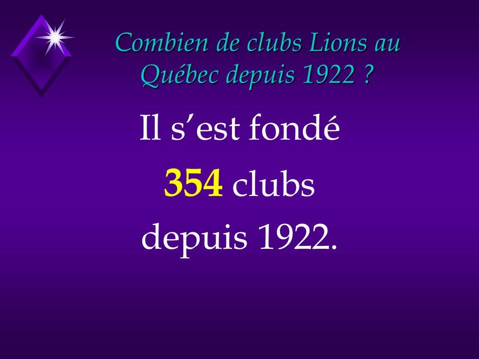 Il sest fondé 354 clubs depuis 1922.