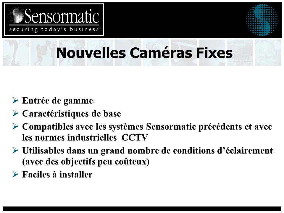 Caméras Fixes entrée de gamme