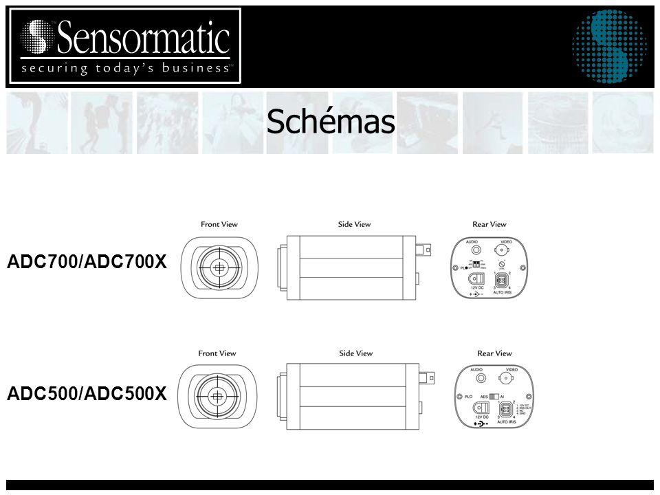 Caractéristiques de la Caméra CCD Noir & Blanc Capteur CCD noir et blanc interlignes de 1/3 pouce Résolution de 380 lignes TV Sensibilité à la lumière