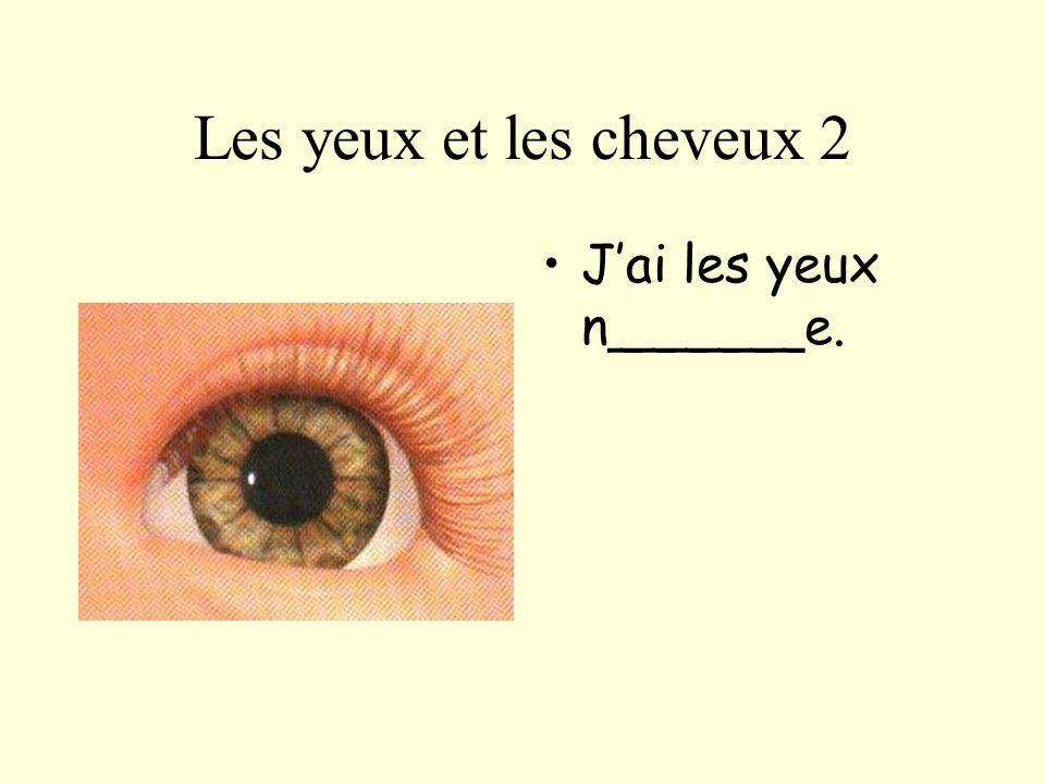 Les yeux et les cheveux 3 Jai les yeux __u__.