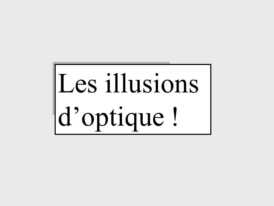Les illusions doptique !