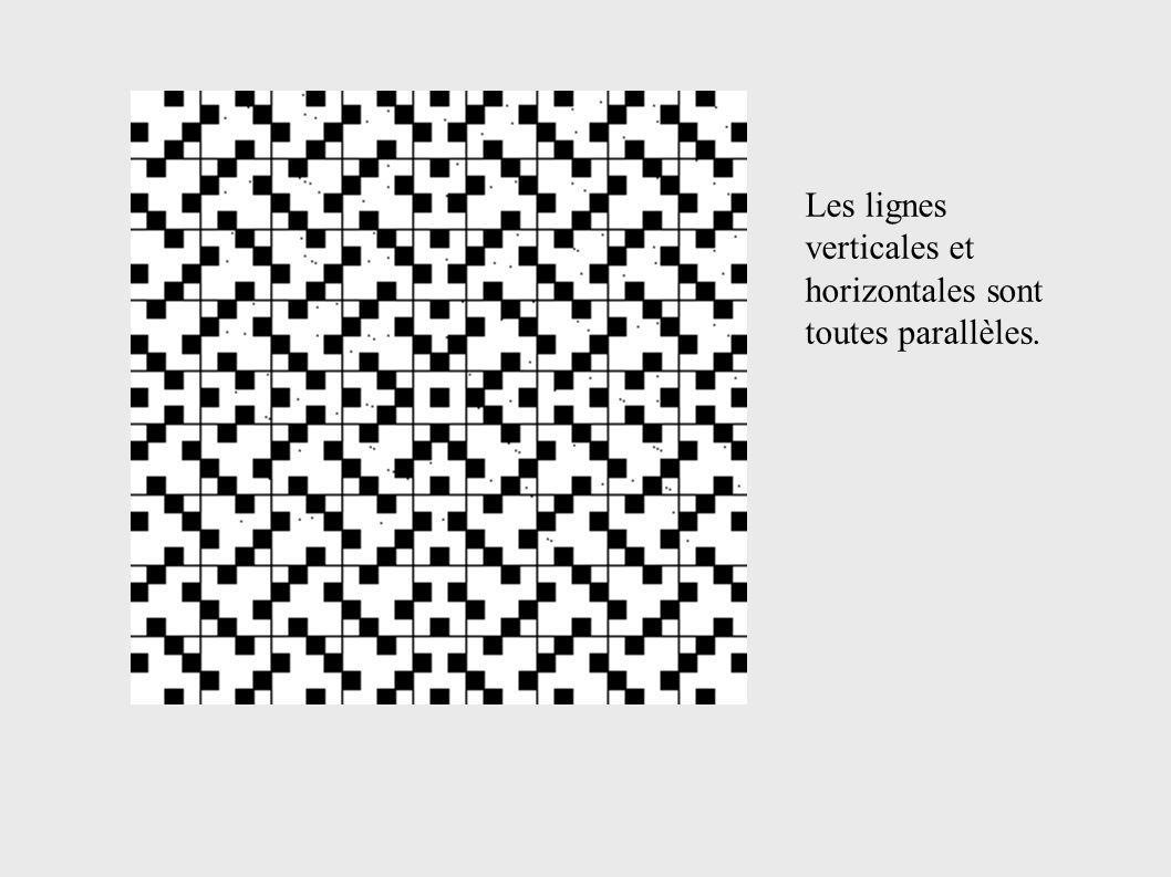 Les lignes verticales et horizontales sont toutes parallèles.