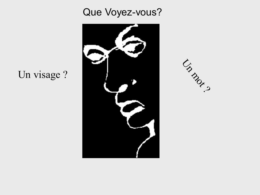 What do Que Voyez-vous? Un visage ? Un mot ?
