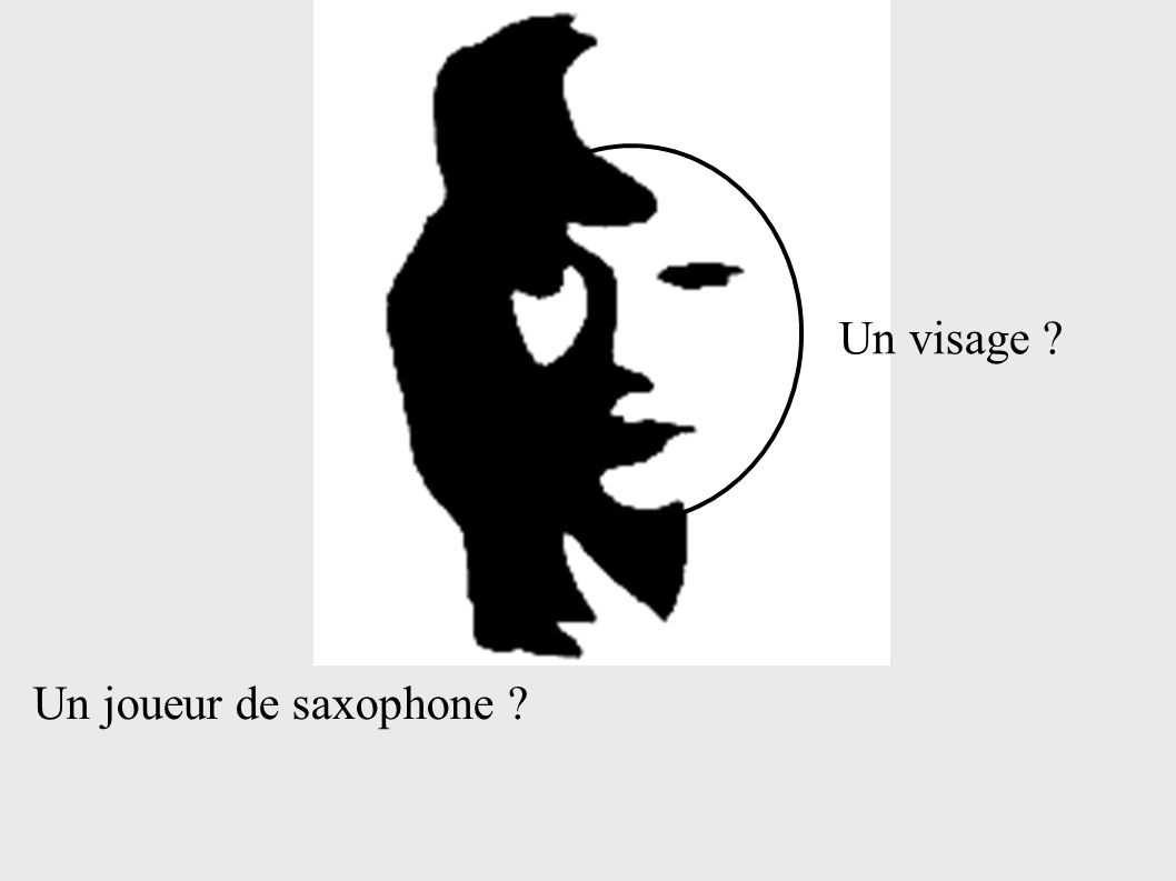 Un joueur de saxophone ? Un visage ?