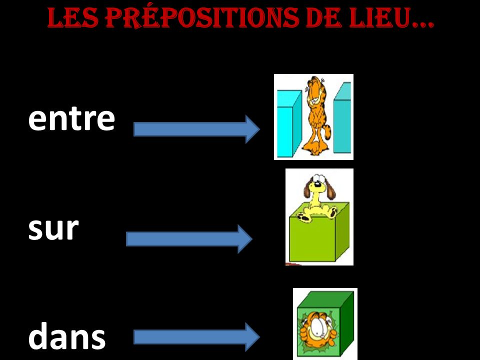 Les prépositions de lieu... entresurdans