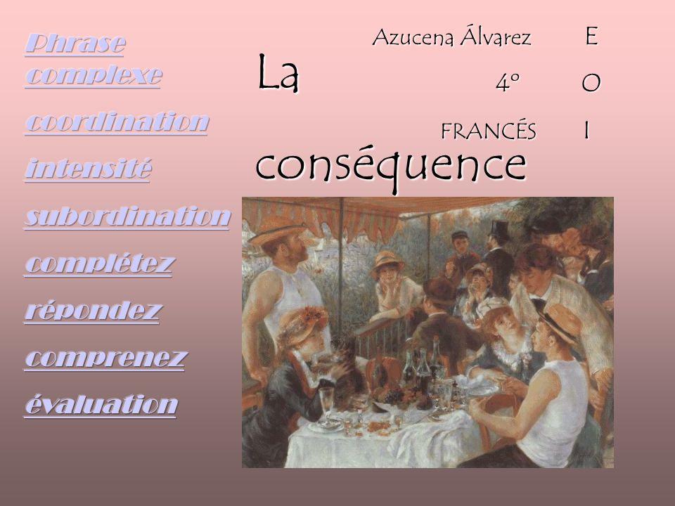 Laconséquence Azucena Álvarez E 4º O 4º O FRANCÉS I