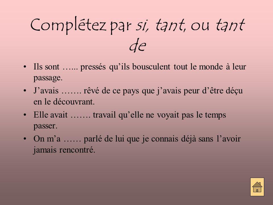 Que ferons-nous en France?(I) Utilise ces conjonctions: du coup, alors, ainsi, de façon que, de manière que, donc.