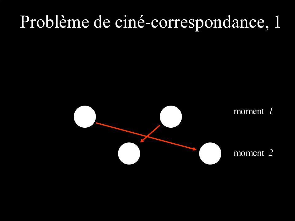 Problème de ciné-correspondance, 1 moment 1 moment 2