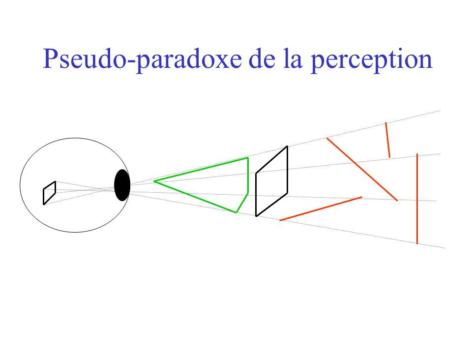 Pseudo-paradoxe de la perception