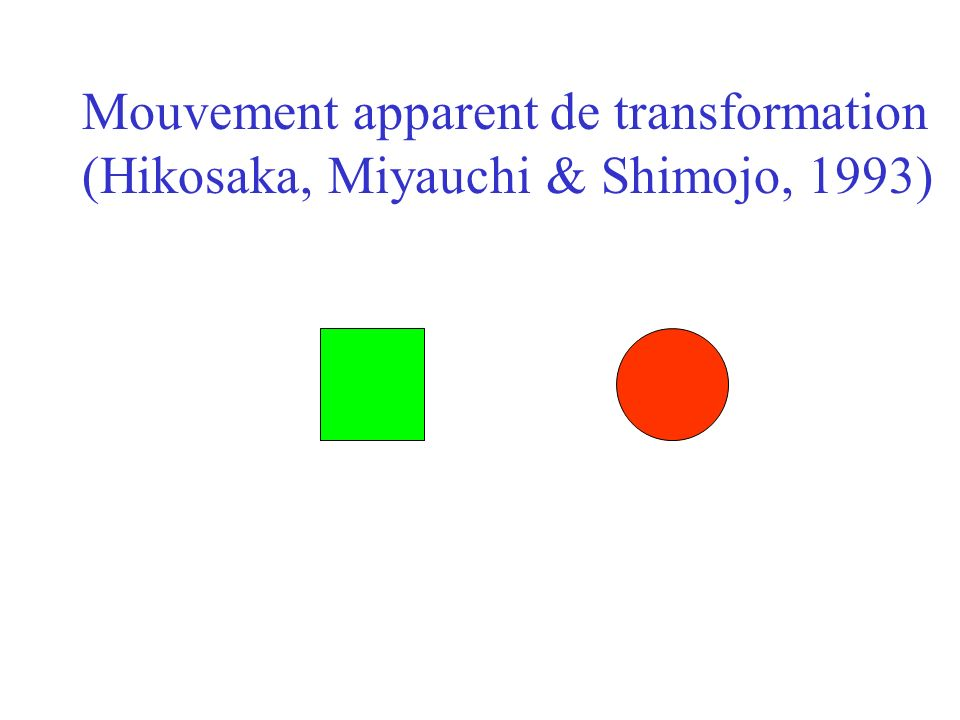 Mouvement apparent de transformation (Hikosaka, Miyauchi & Shimojo, 1993)