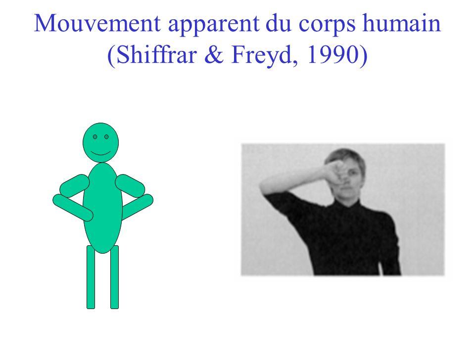 Mouvement apparent du corps humain (Shiffrar & Freyd, 1990)
