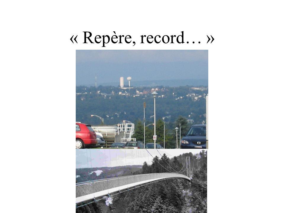 « Repère, record… »
