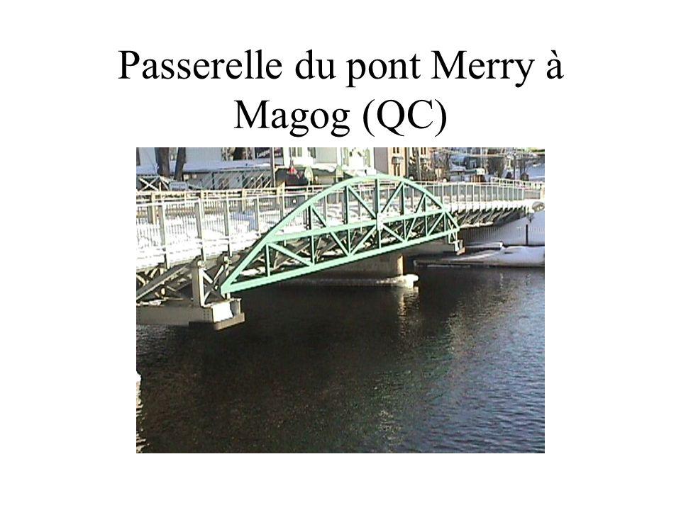 Passerelle du pont Merry à Magog (QC)