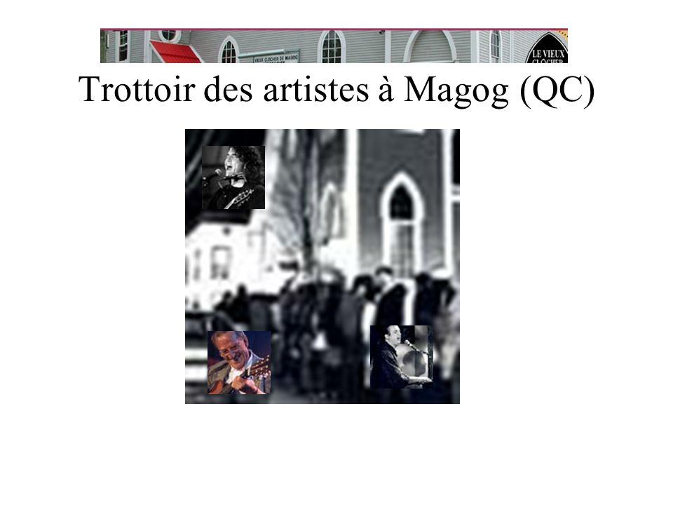 Trottoir des artistes à Magog (QC)