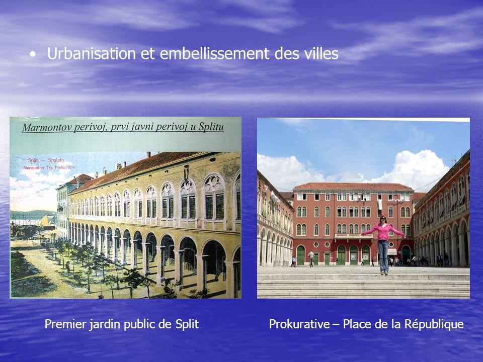 Urbanisation et embellissement des villes Premier jardin public de SplitProkurative – Place de la République