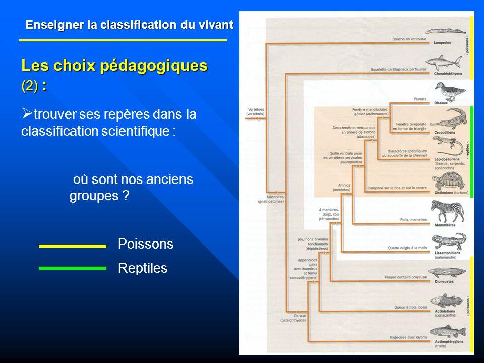 Enseigner la classification du vivant Les choix pédagogiques (2) : trouver ses repères dans la classification scientifique : où sont nos anciens group