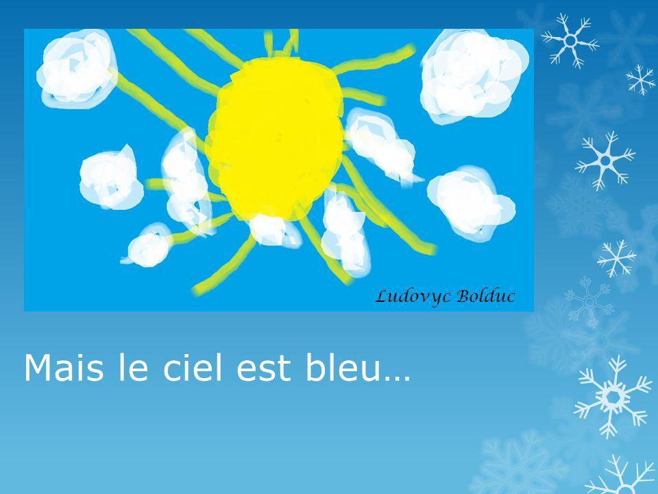 Mais le ciel est bleu… Ludovyc Bolduc