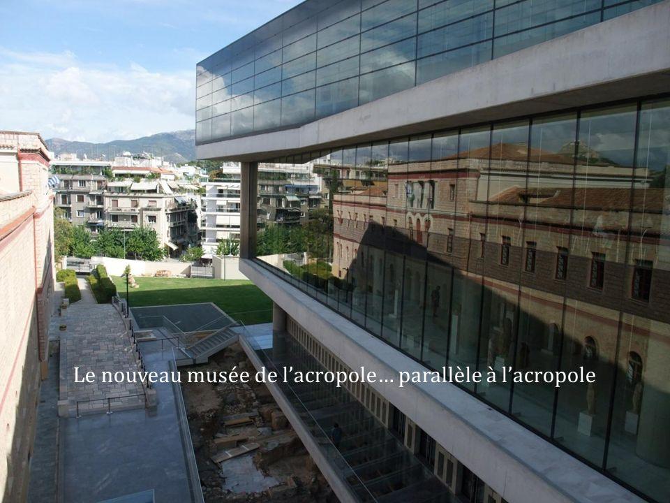 Le nouveau musée de lacropole… parallèle à lacropole