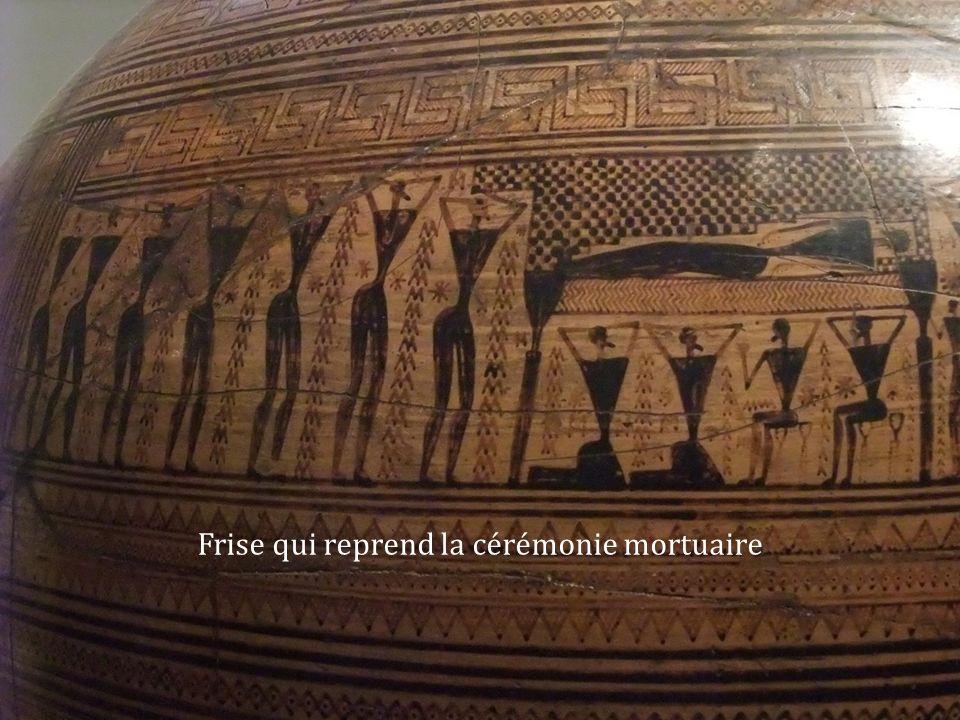 Frise qui reprend la cérémonie mortuaire