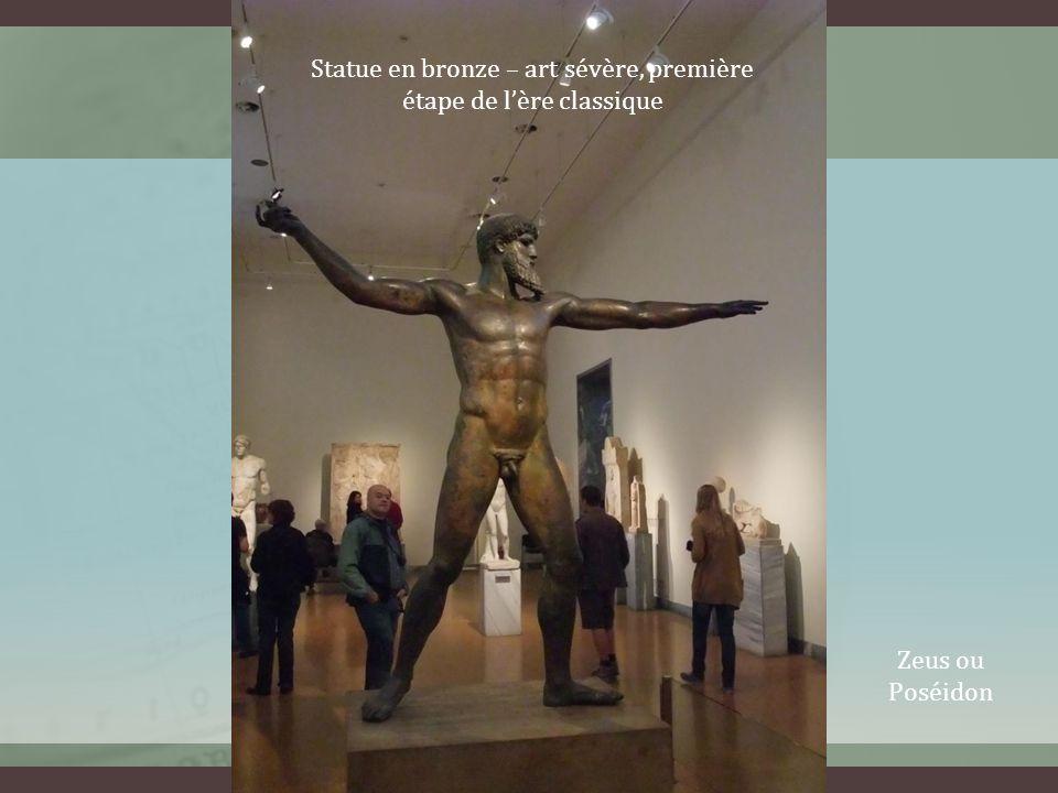 Statue en bronze – art sévère, première étape de lère classique Zeus ou Poséidon