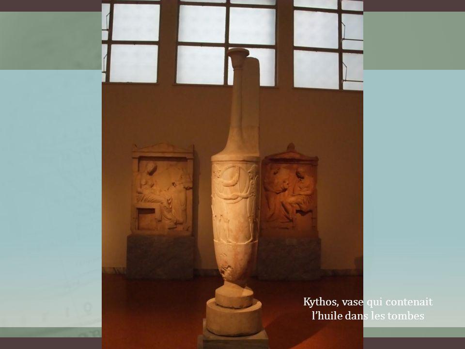 Kythos, vase qui contenait lhuile dans les tombes