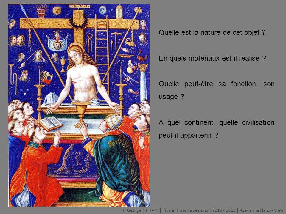 Comparer ces trois œuvres F.
