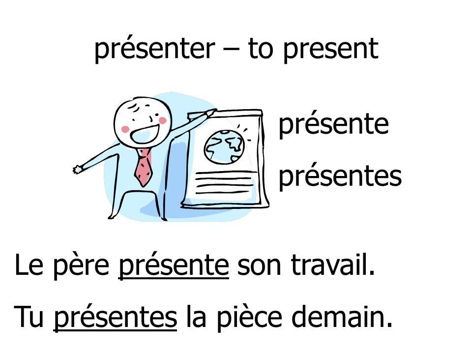memoriser – to memorize Elle memorise la première page. Tu memorises les mots en ordre. memorise memorises