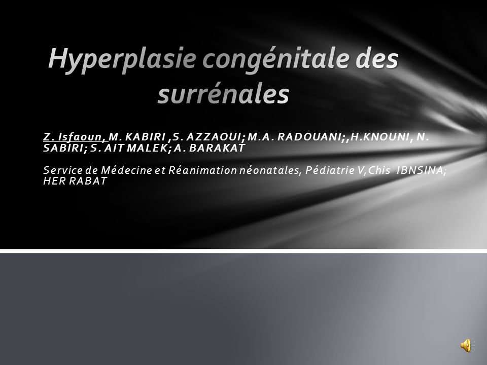 Traitement: Le malade a été mis sous supplémentation en NaCl 3meq + palier de 10 avec bolus dhémisuccinate dhydrocortisone à 20mg toutes les 4h pendant 48h.