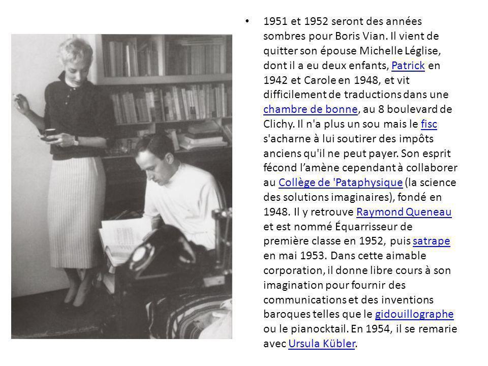 Le matin du 23 juin 1959, Boris Vian assiste à la première de J irai cracher sur vos tombes, film inspiré de son roman, au cinéma Le Marbœuf.