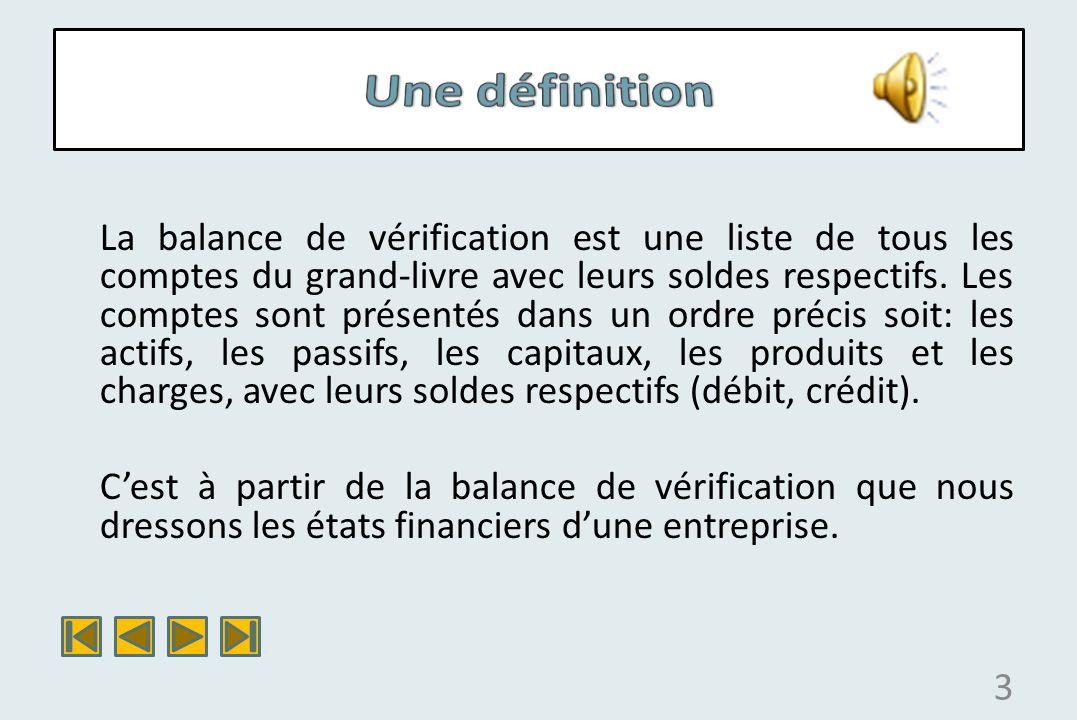 4 Nom de lentreprise Balance de vérification Au...