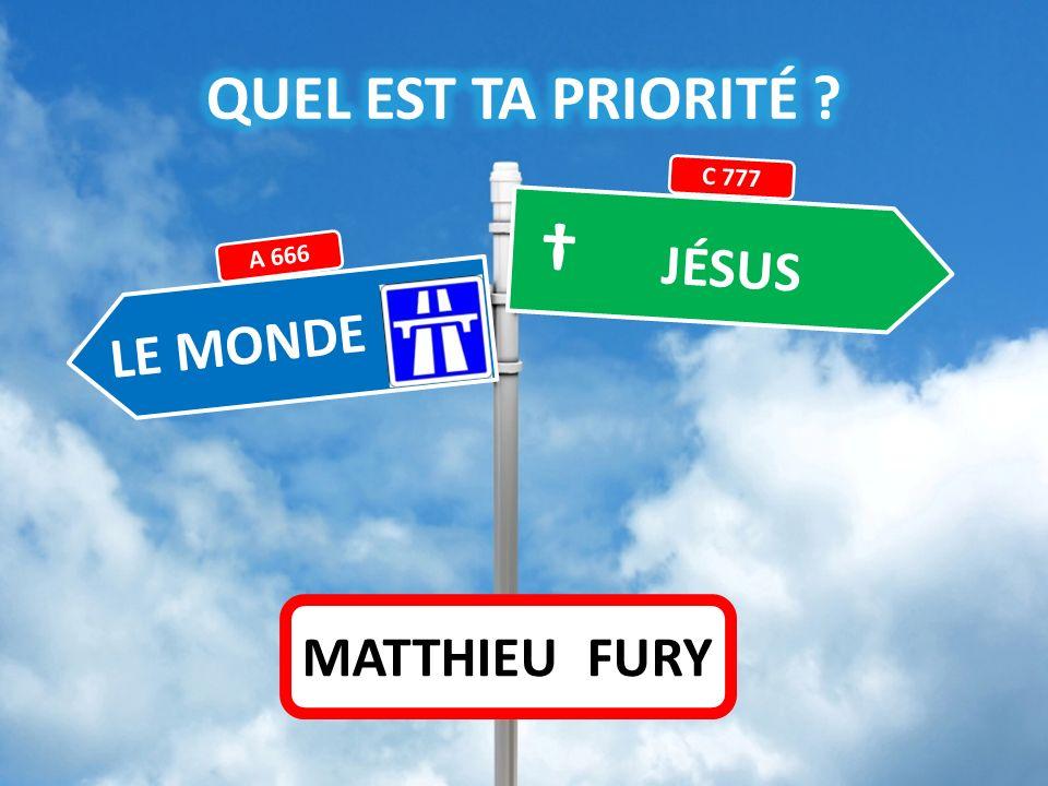 JÉSUS LE MONDE A 666 C 777 MATTHIEU FURY