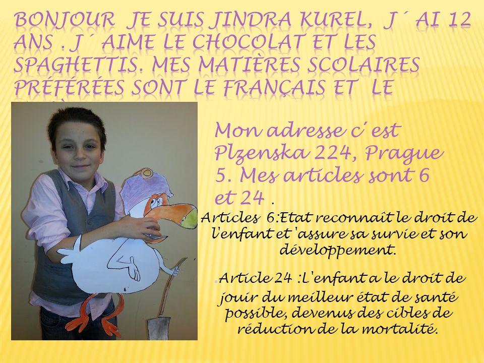 Articles 6:Etat reconnaît le droit de l'enfant et 'assure sa survie et son développement.. Article 24 :L'enfant a le droit de jouir du meilleur état d
