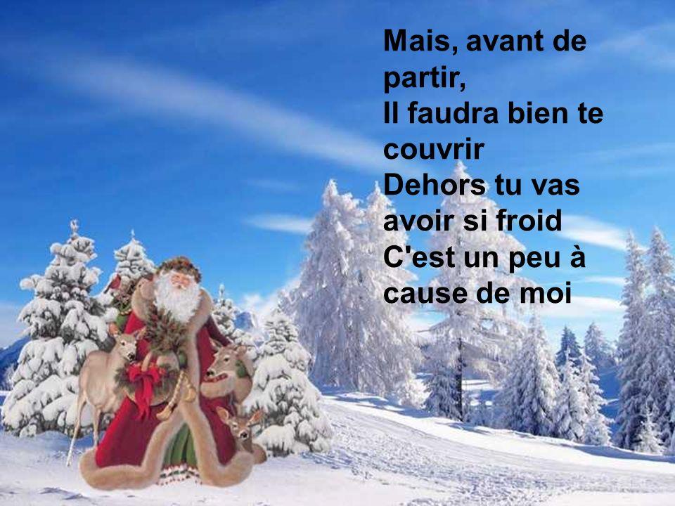 Petit Papa Noël Quand tu descendras du ciel Avec des jouets par milliers N'oublie pas mon petit soulier