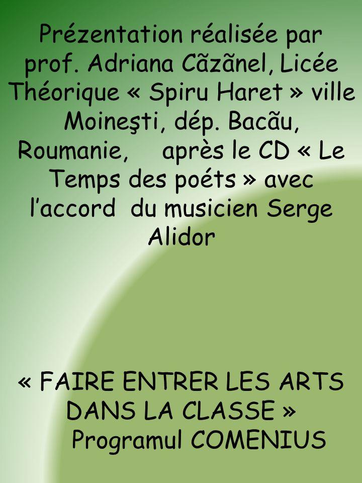 Projet réalisé par des élèves de Guadeloupe & les poètes Ernest Pèpin et Daniel Maximin & le musicien Serge Alidor. TEMPS DES POÈTES Musique et poésie