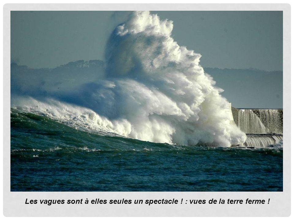 Les vagues sont à elles seules un spectacle ! : vues de la terre ferme !