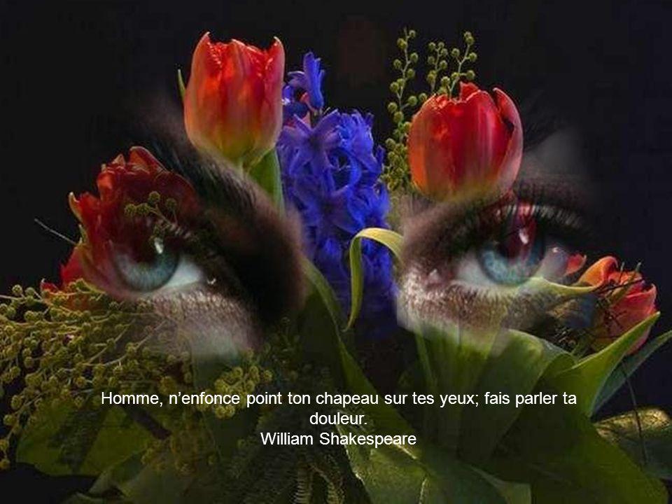 Homme, nenfonce point ton chapeau sur tes yeux; fais parler ta douleur. William Shakespeare
