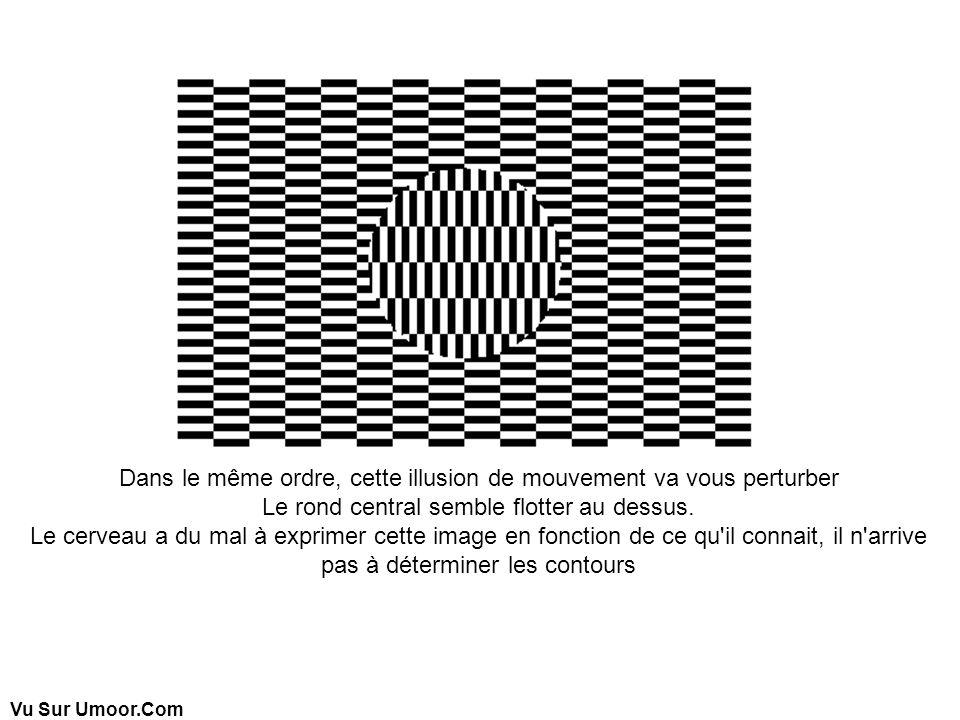 Vu Sur Umoor.Com Dans le même ordre, cette illusion de mouvement va vous perturber Le rond central semble flotter au dessus. Le cerveau a du mal à exp
