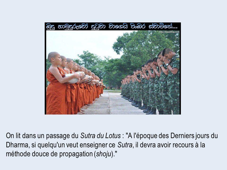 On lit dans un passage du Sutra du Lotus :